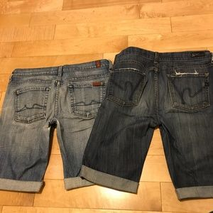 7 ForAllMankind & Citizens for Humanity Shorts 29
